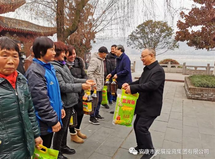 周汉林慰问安文投公司一线党员职工和调研项目建设情况