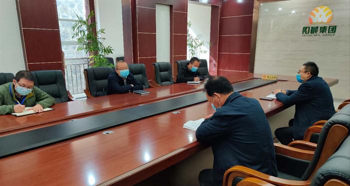 市财信担保公司调研阳晨牧业运行情况