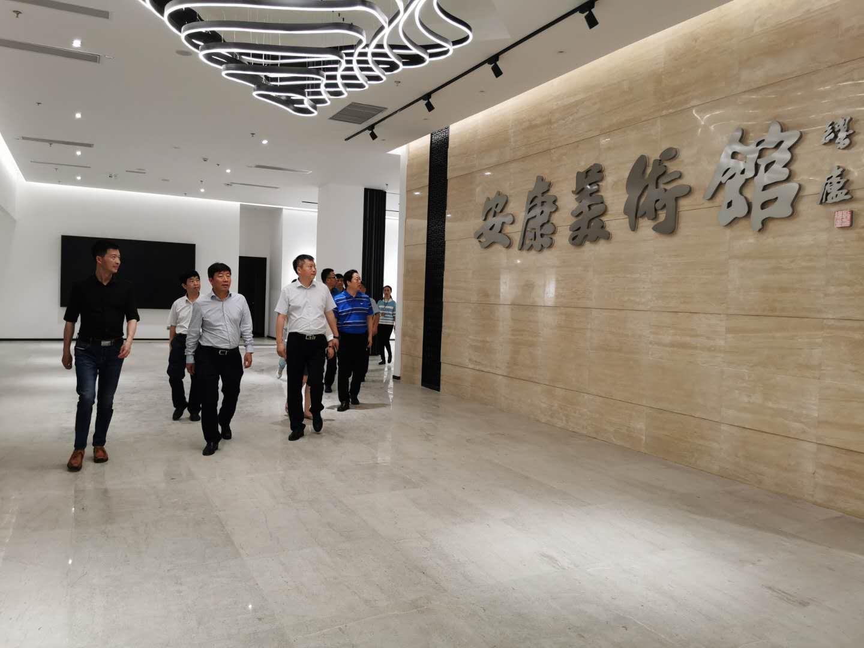 省文旅厅副厅长陈梦榆一行调研安康美术馆、西城坊项目