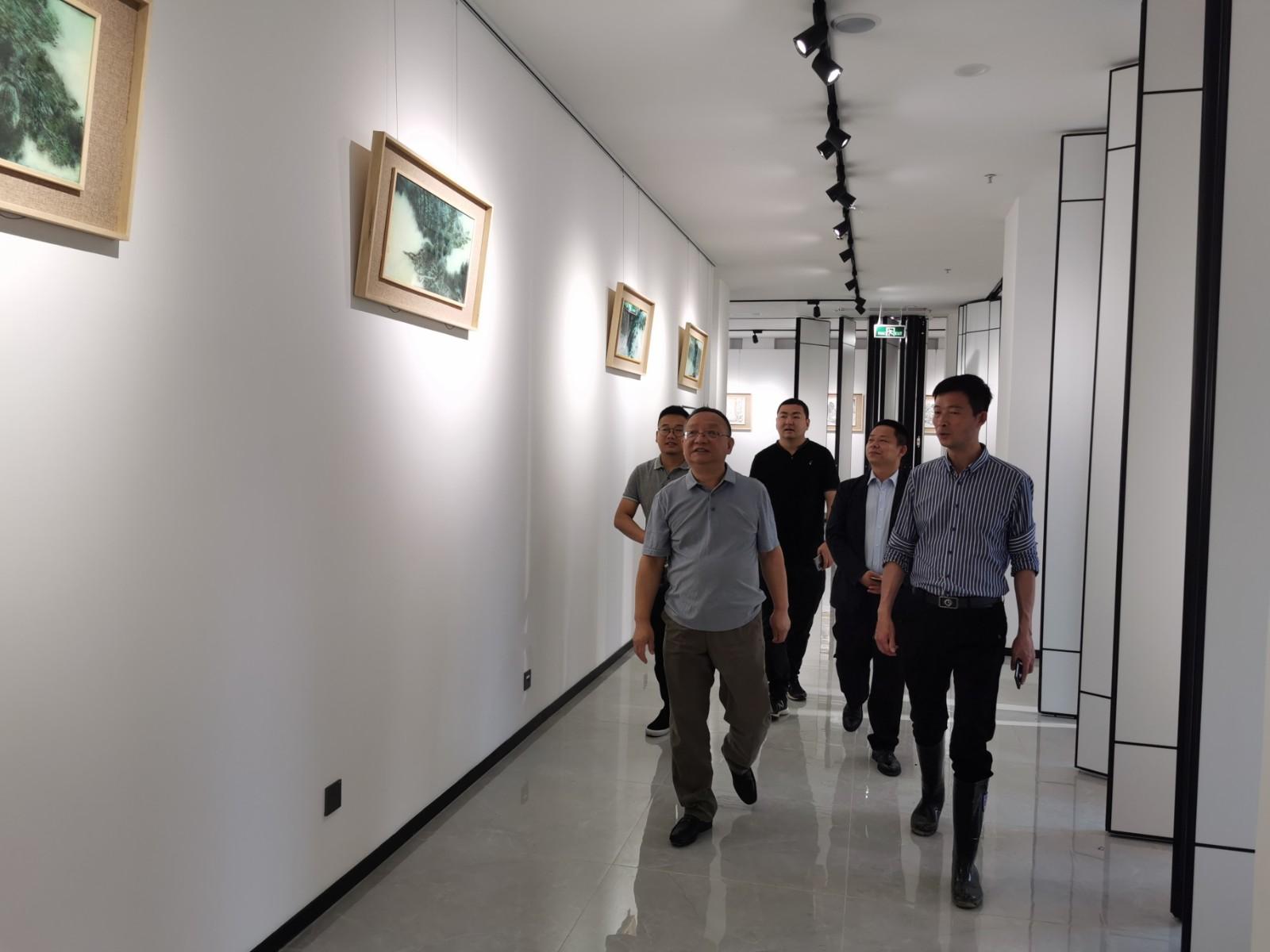 周汉林检查指导安康美术馆开馆和西城坊开园筹备工作