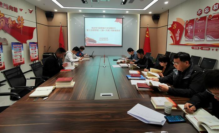 安文投公司党支部开展第三次党史教育专题学习