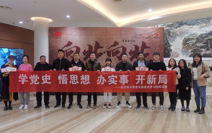 安文投公司党支部组织党员干部职工观看红色戏剧《向北•向北》